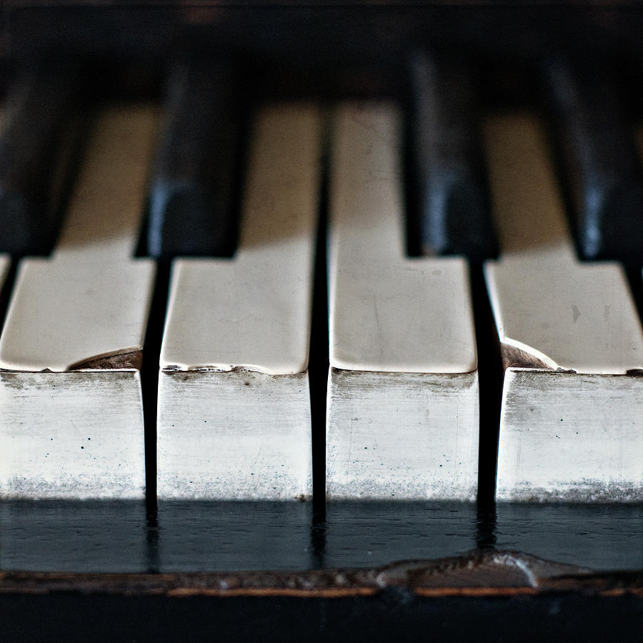Square Photograph - Piano Keys by Julie Rideout
