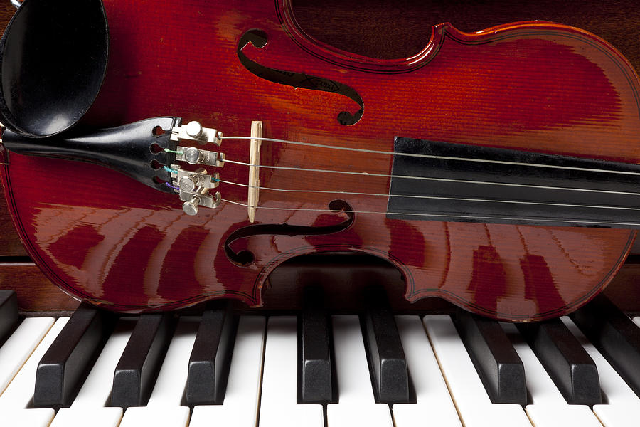 Violin Photograph - Piano Reflections by Garry Gay
