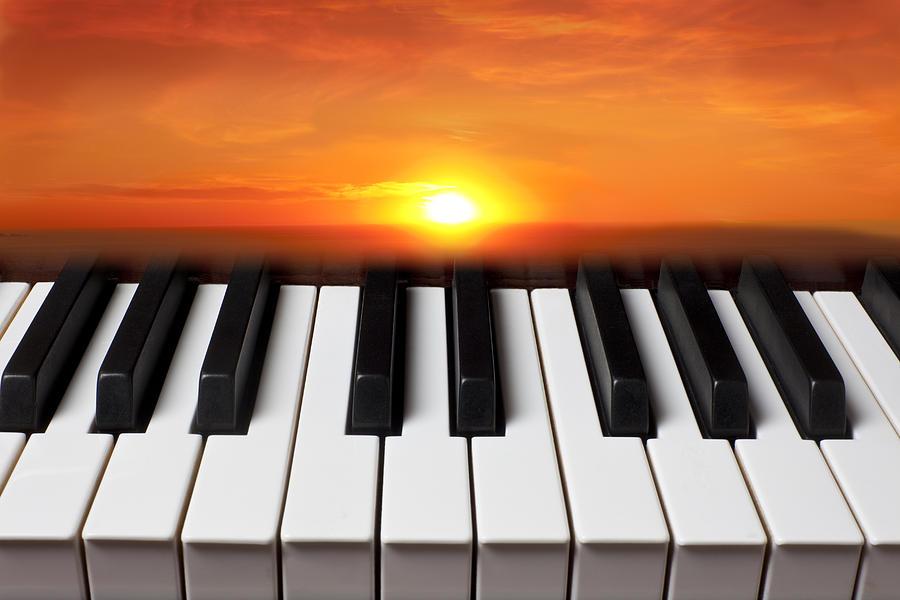 Piano Sunset Photograph