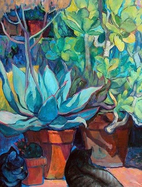 Cactuses Painting - Piante Grasse by Natalia Sorokina Music