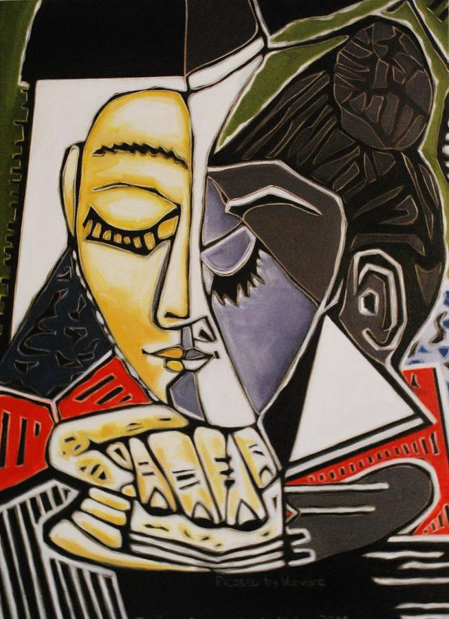 Study Picasso's Femme Painting - Picasso By Varvara by Varvara Stylidou