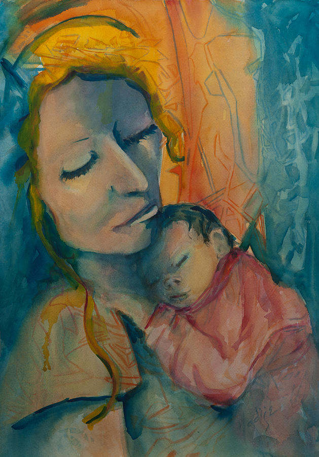 Mother Holding New Born With Love. Painting - Picture Of Love by Mary DuCharme