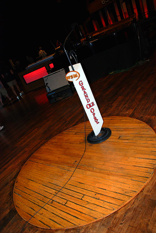 Stage Photograph - Piece Of The Original Old Stage At The Grand Ole Opry In Nashville by Susanne Van Hulst