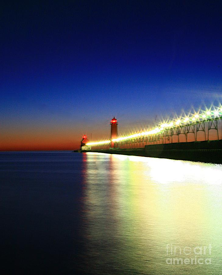 Water Photograph - Pier Reflection by Robert Pearson