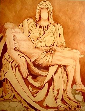 Jesus Painting - Pieta-after Michelangelo by Kevin Davidson
