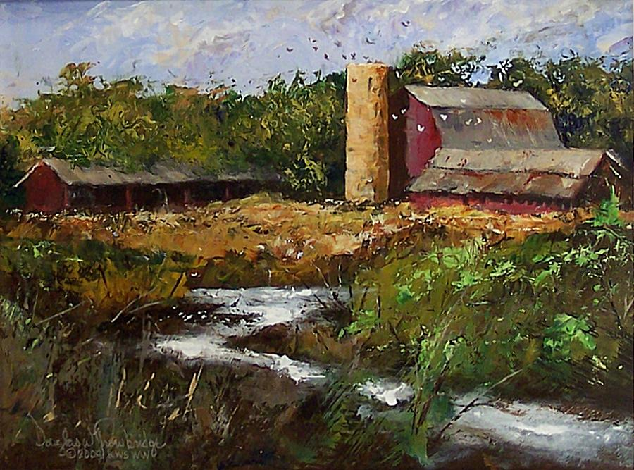 Barn Painting - Pigeons by Douglas Trowbridge