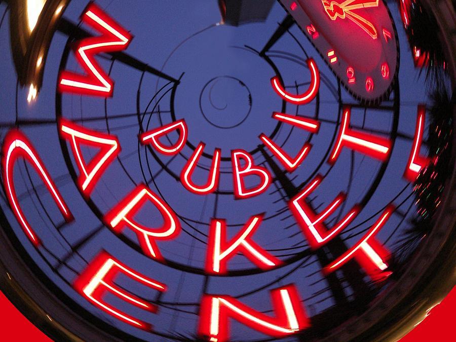 Pike Place Market Entrance Photograph