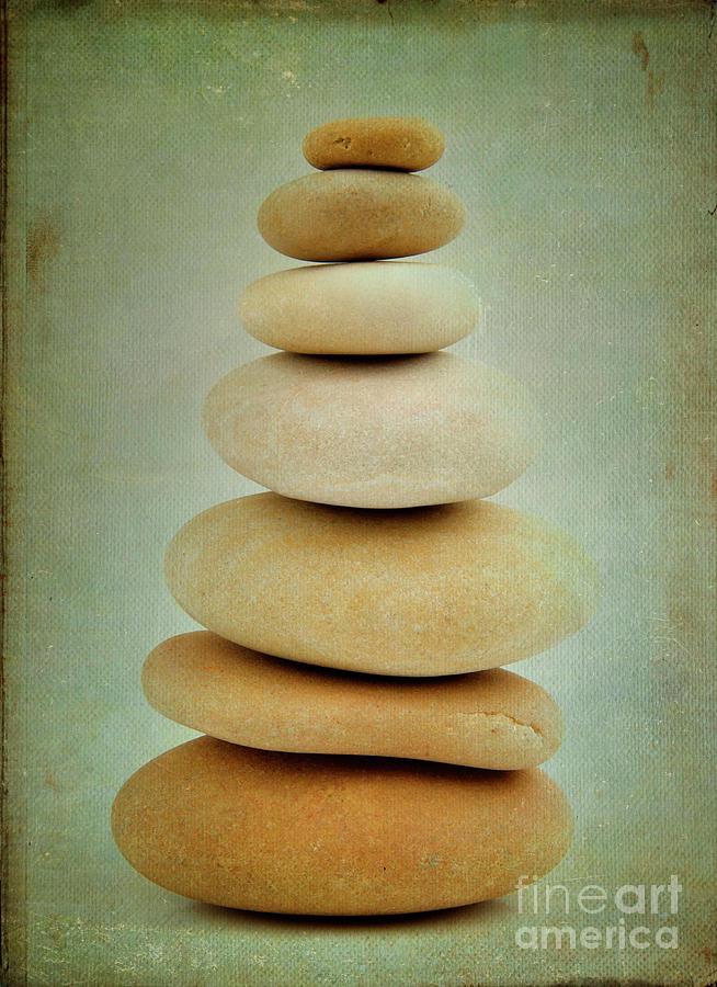 Balanced Photograph - Pile Of Stones by Bernard Jaubert