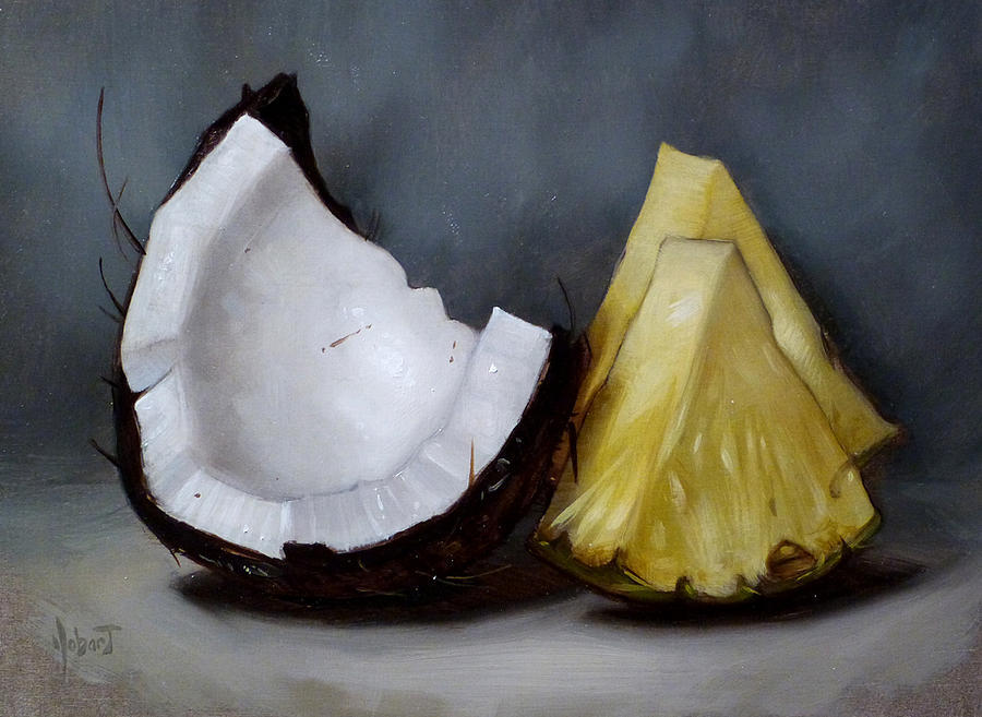 Coconut Painting - Pina Colada Night by Clinton Hobart