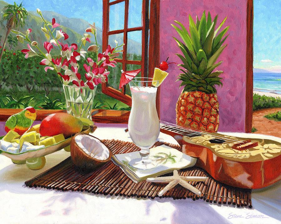 Pina Colada Painting - Pina Colada by Steve Simon