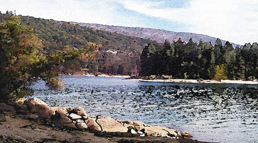 California Landscape Art Photograph - Pine Point Bass Lake Larry Darnell by Larry Darnell