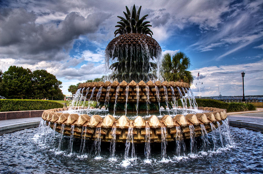 Fountain Photograph - Pineapple Storm by Drew Castelhano