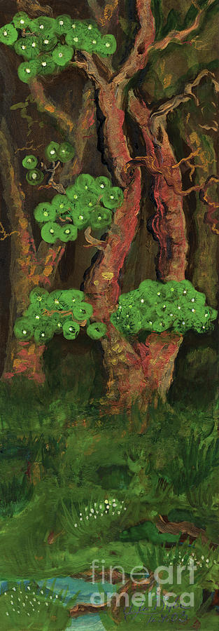 Pines By The Brook Painting
