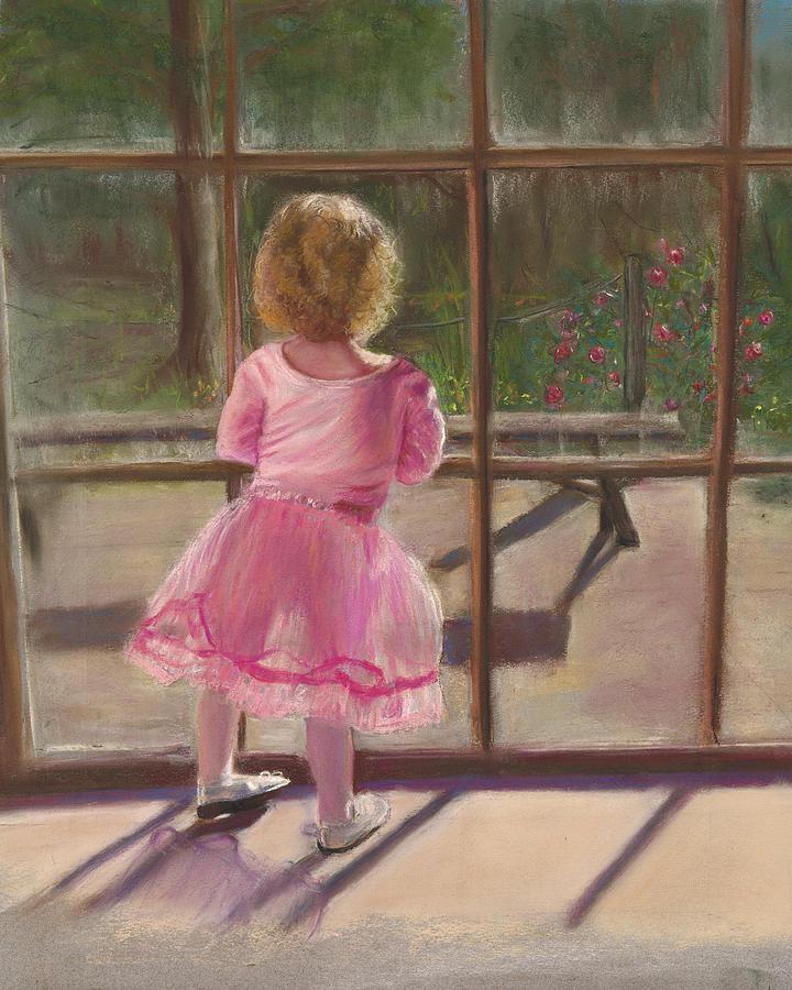 Ballerina Painting - Pink Ballerina by Kathy Wood