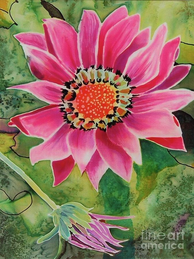 Pink blossom 2 painting by henny dagenais for Henny and paint
