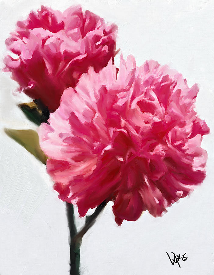 oil painting pink flower - photo #22