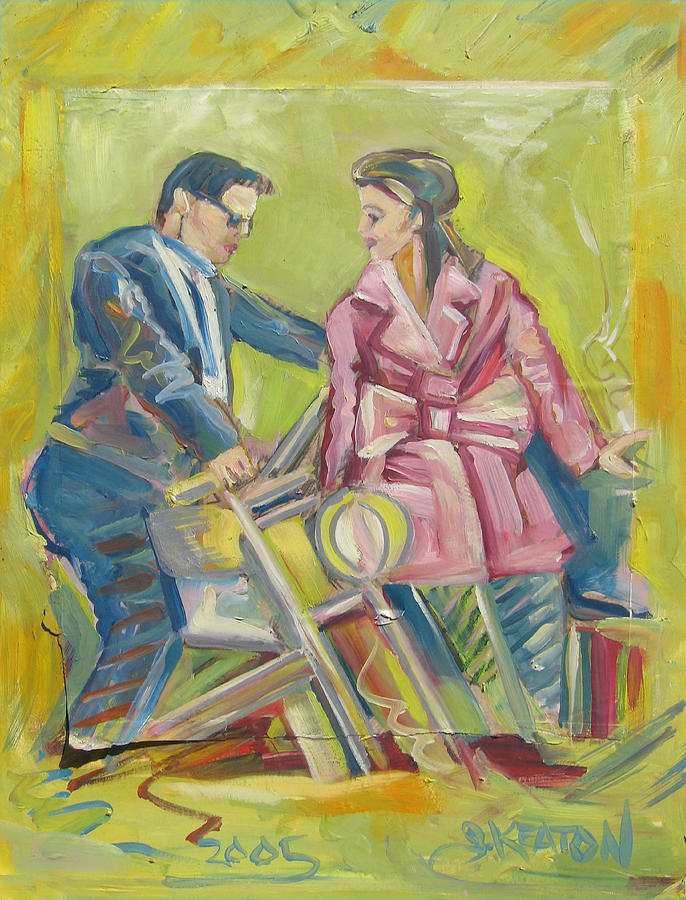 Pink Leather Painting - Pink Leather Moto by John Keaton