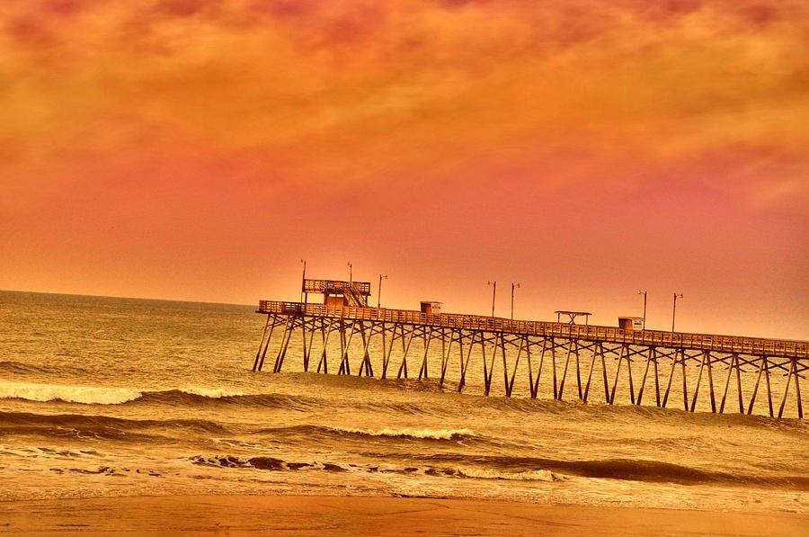 Pink Morn Pier Photograph