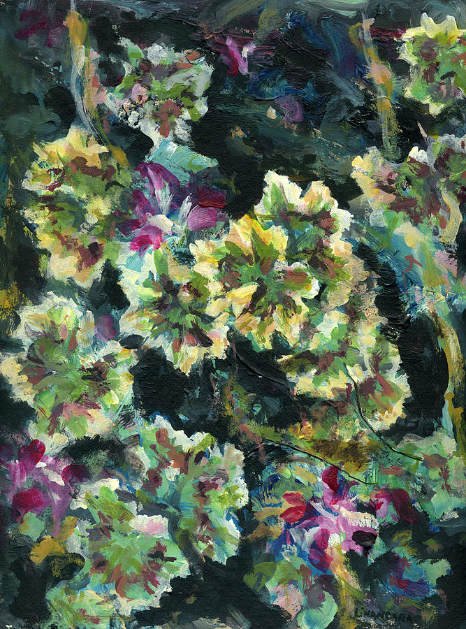 Pelargonium Painting - Pink Pelargonium by Alexandra Cook