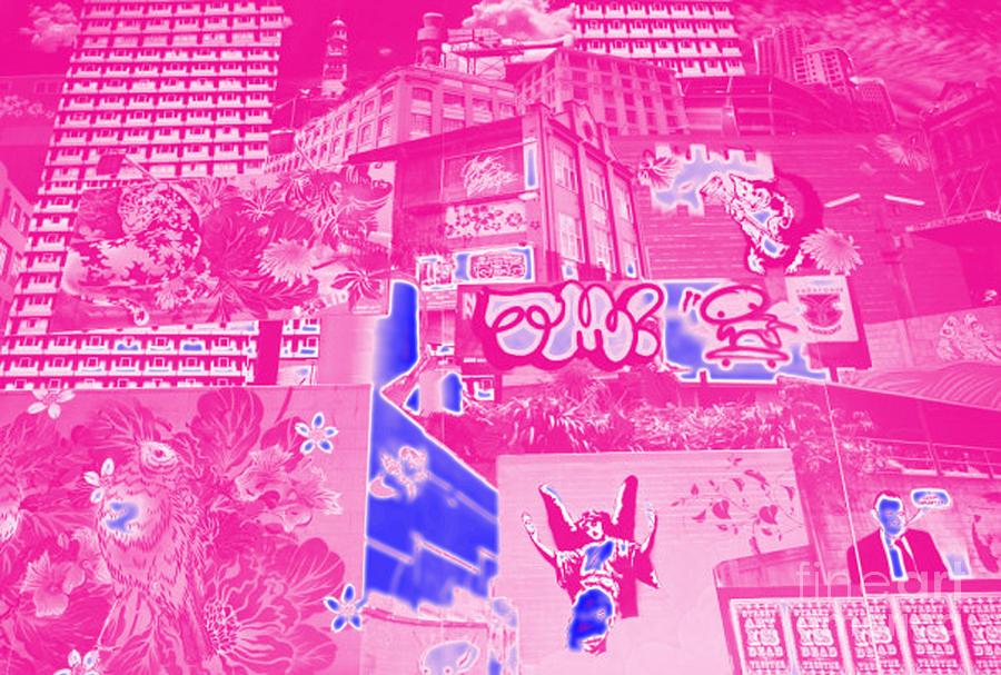 Pink Digital Art - Pink Street Symphony by Jones- Mann