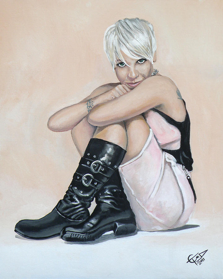 P!nk Painting - Pink by Tom Carlton