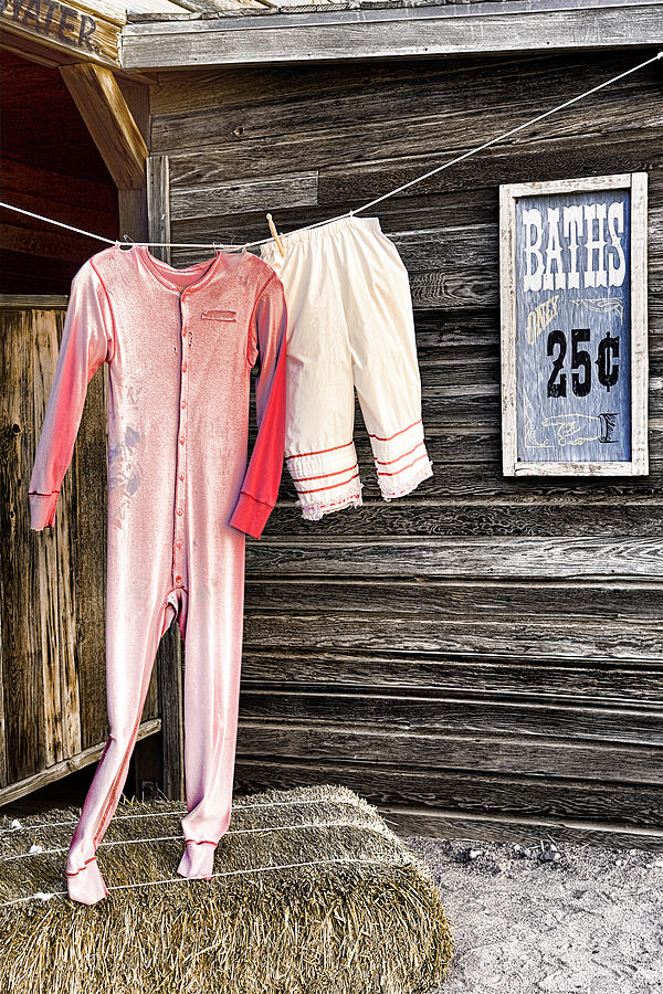 Bathhouse Photograph - Pink Undies by Wendy White