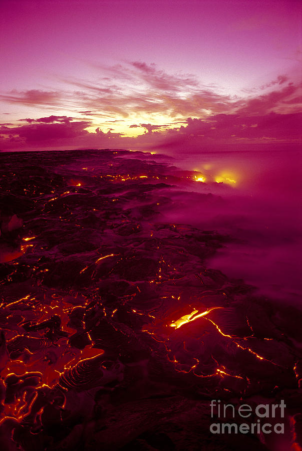 2003va Earlier Photograph - Pink Volcano Sunrise by Ron Dahlquist - Printscapes
