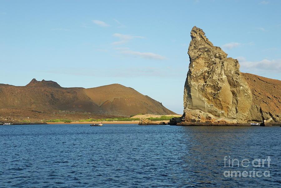 Bartolome Island Photograph - Pinnacle Rock From Sea by Sami Sarkis