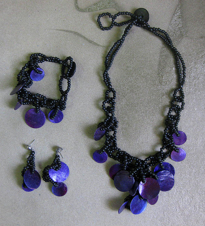 Philippines Wholesale Jewelry Jewelry - Pinococo 11-392 Purple by Lyn Deutsch