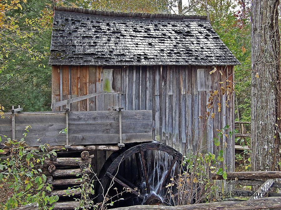 Pioneer Digital Art - Pioneer Water Mill by DigiArt Diaries by Vicky B Fuller