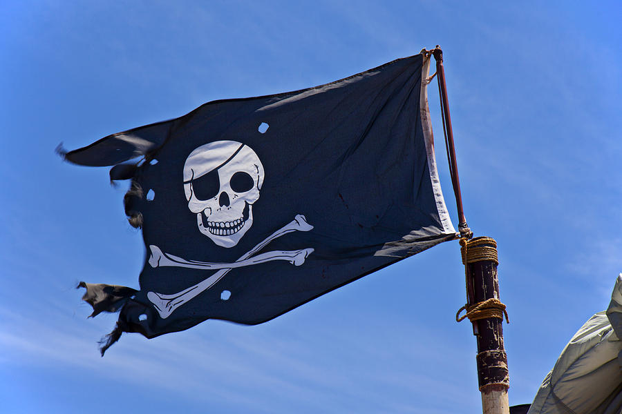 Pirate Flag Skull And Cross Bones Photograph