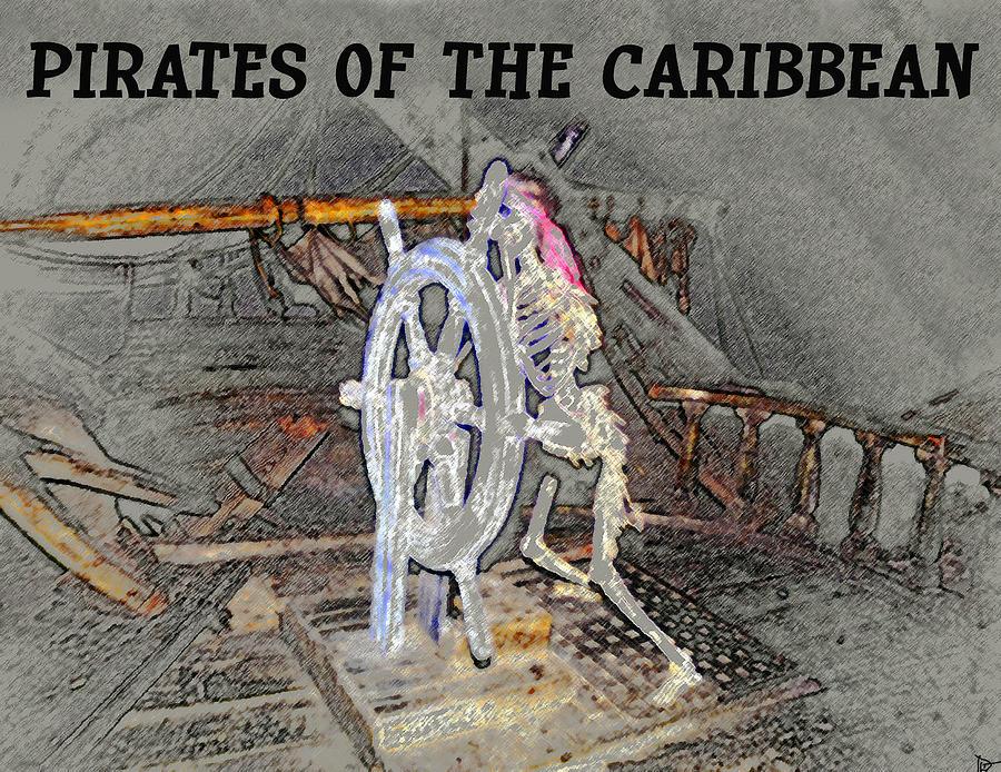 Art Painting - Pirates Skeleton by David Lee Thompson