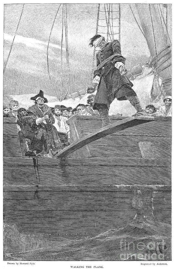 1887 Photograph - Pirates: Walking The Plank by Granger