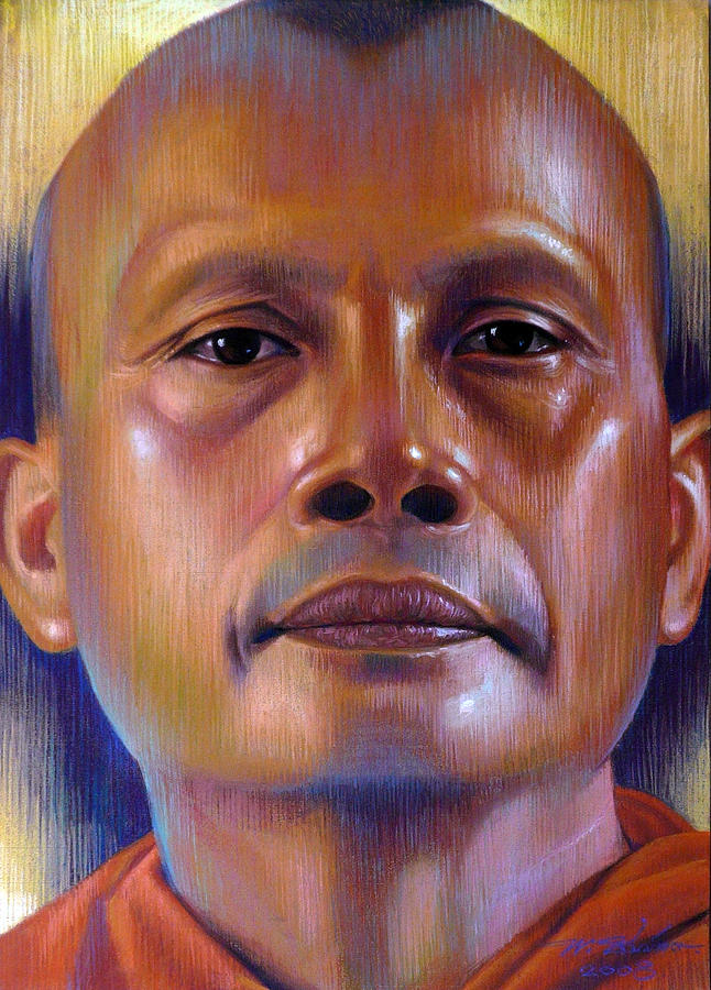 Monk Painting - Pisal Dhama Phatee by Chonkhet Phanwichien