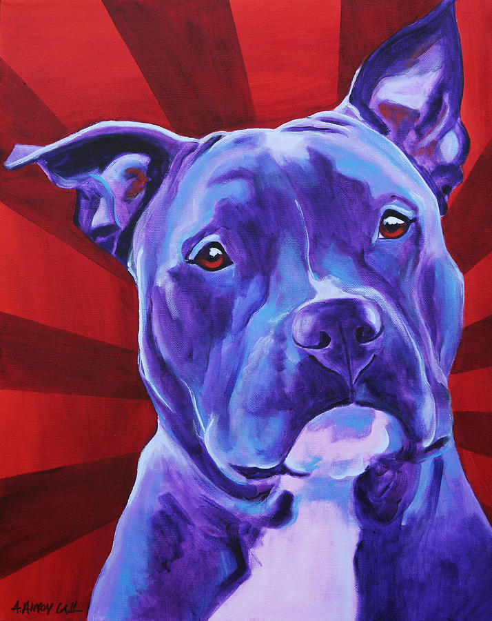 Pit Bull Painting - Pit Bull - Shakti by Alicia VanNoy Call
