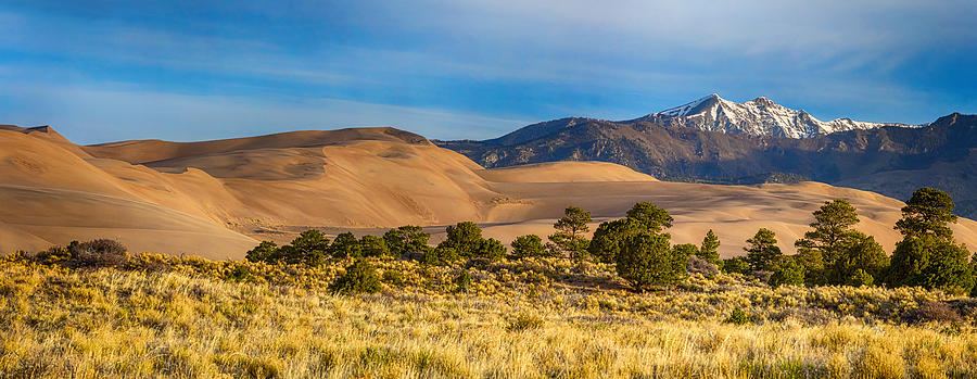 Plains - Dunes And Rocky Mountains Panorama Photograph
