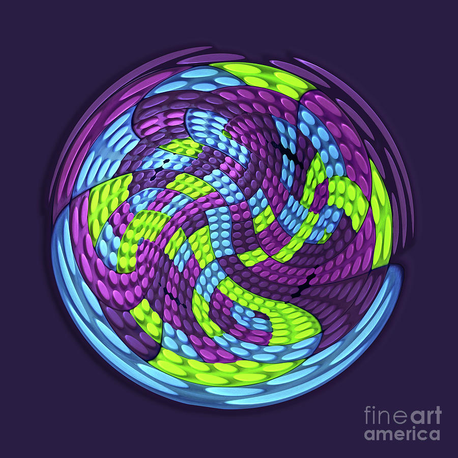 Abstract Digital Art - Planet by Efrat Fass