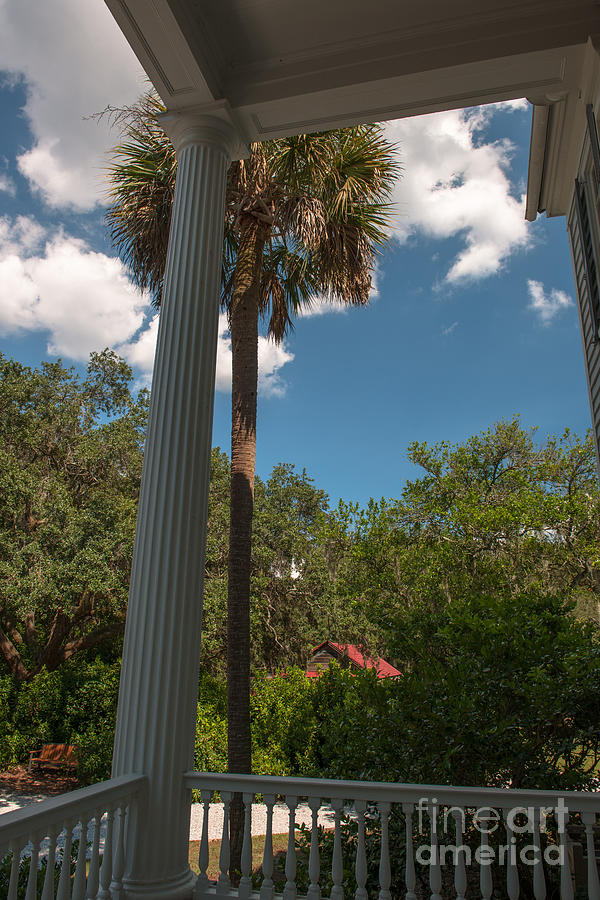 Plantation Porch View Photograph