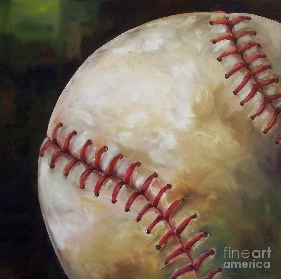 Baseball Painting - Play Ball by Kristine Kainer