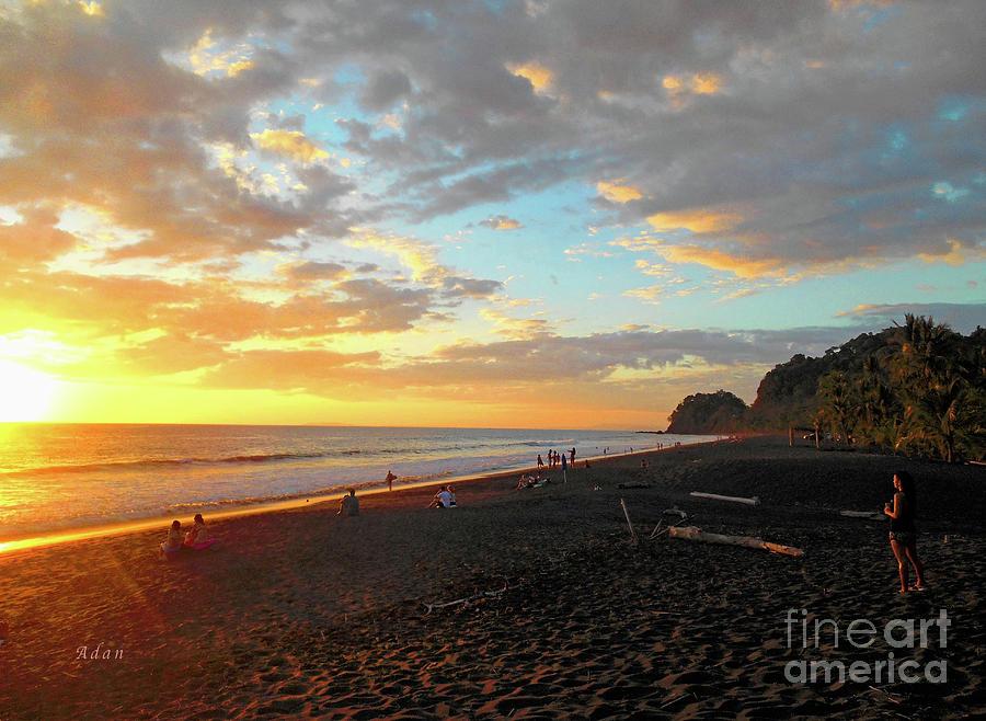 Costa Rica Photograph - Playa Hermosa Puntarenas Costa Rica - Sunset A One by Felipe Adan Lerma