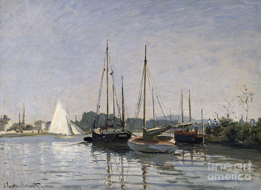 Pleasure Boats Painting - Pleasure Boats Argenteuil by Claude Monet