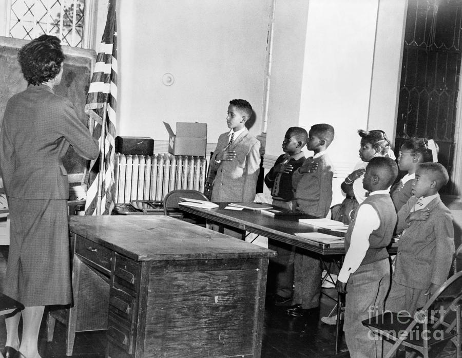 1958 Photograph - Pledge Of Allegiance, 1958 by Granger