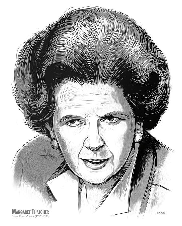 Pm Margaret Thatcher Mixed Media