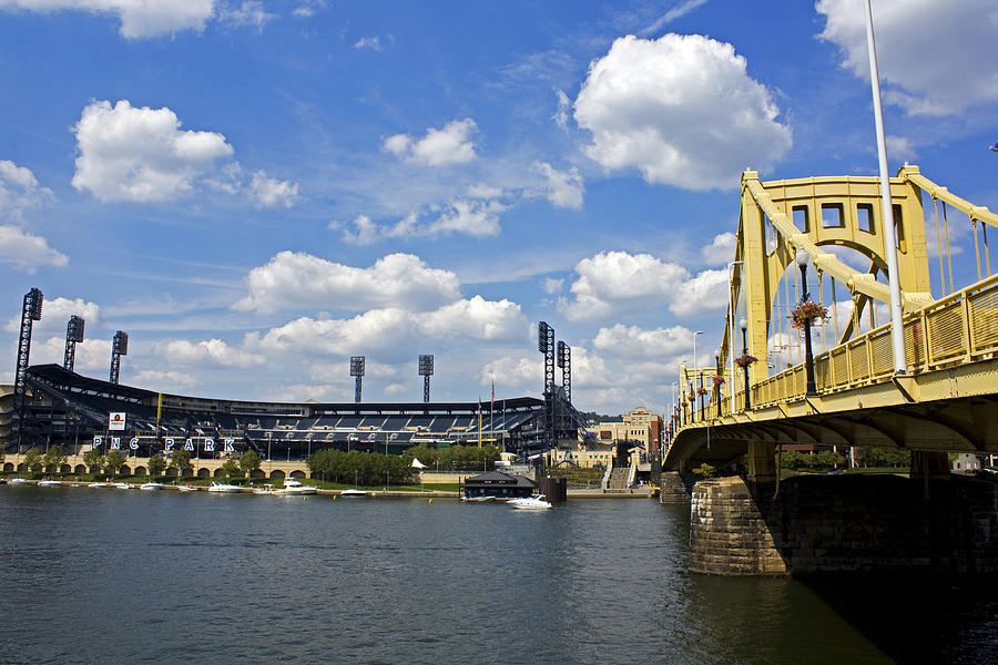Pittsburgh Photograph - Pnc Park And Roberto Clemente Bridge Pittsburgh Pa by Kristen Vota