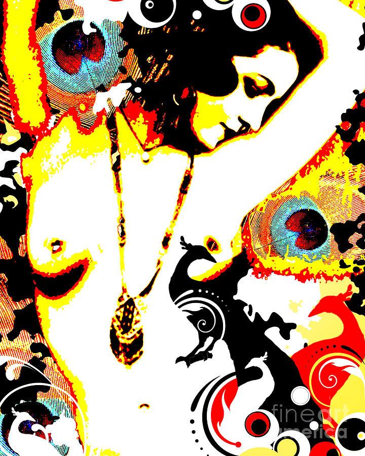 Poetic Peacock Digital Art