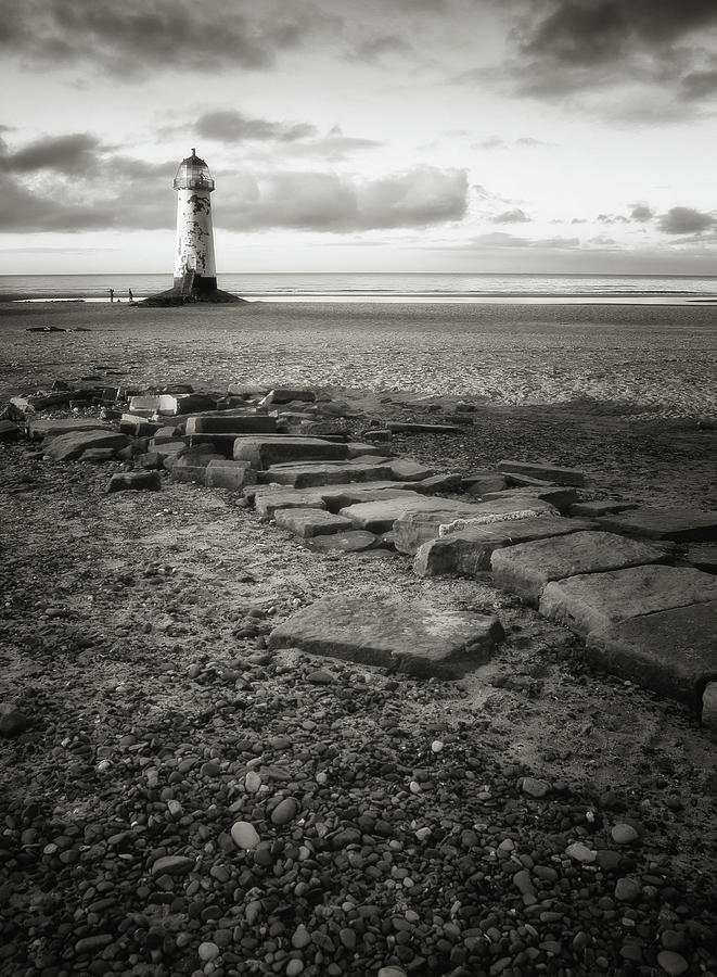 Vertical Photograph - Point Of Ayre Lighthouse by Jon Baxter