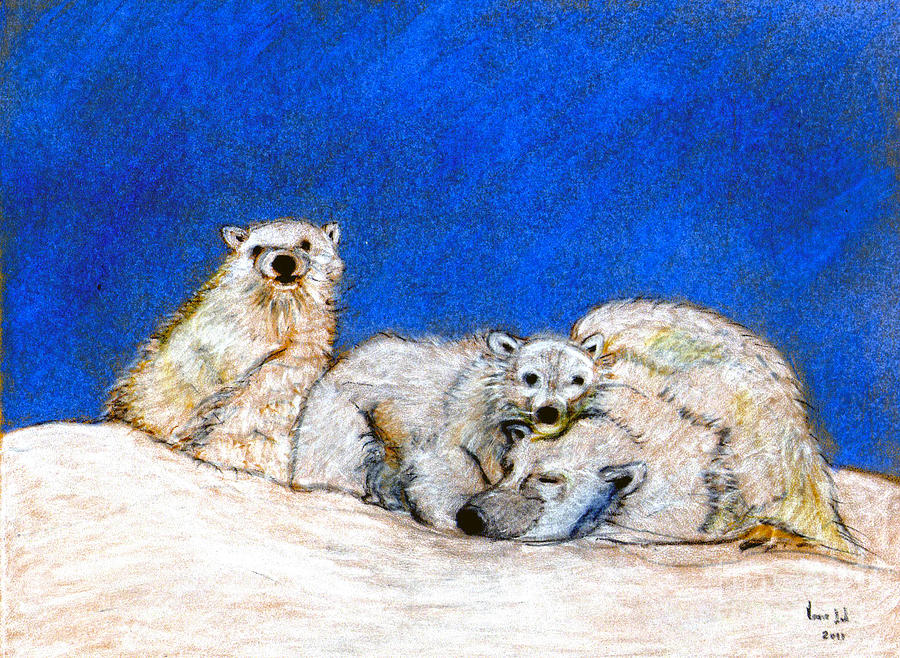 Polar Bears With Love Digital Art