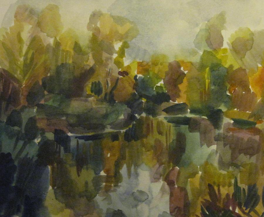Pond Painting - Pond by Darya Gavroff