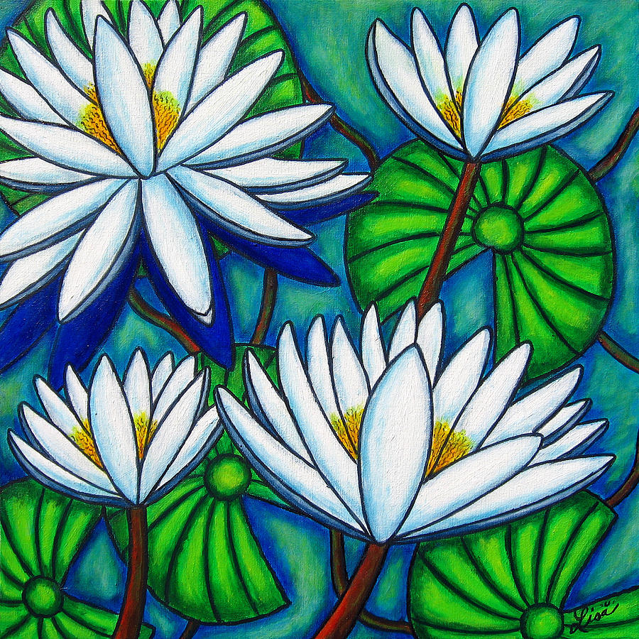 Water Lilies Painting - Pond Jewels by Lisa  Lorenz