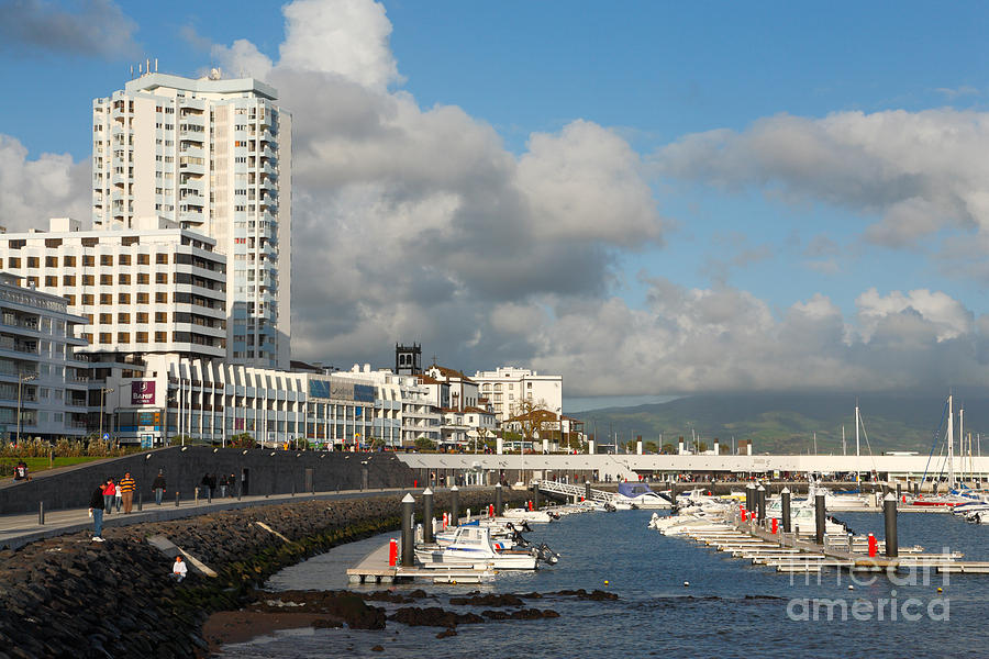 Waterfront Photograph - Ponta Delgada Waterfront by Gaspar Avila